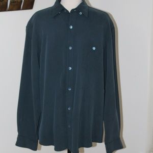 Tommy Bahama, 100% silk button down shirt Med.   G